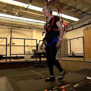Seniors learn how to fall, with a lot of help