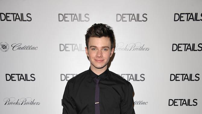 IMAGE DISTRIBUTED FOR DETAILS MAGAZINE - Chris Colfer attends DETAILS Hollywood Mavericks Party on Thursday, Nov. 29, 2012 in Los Angeles. (Photo by John Shearer/Invision for Details Magazine/AP Images)