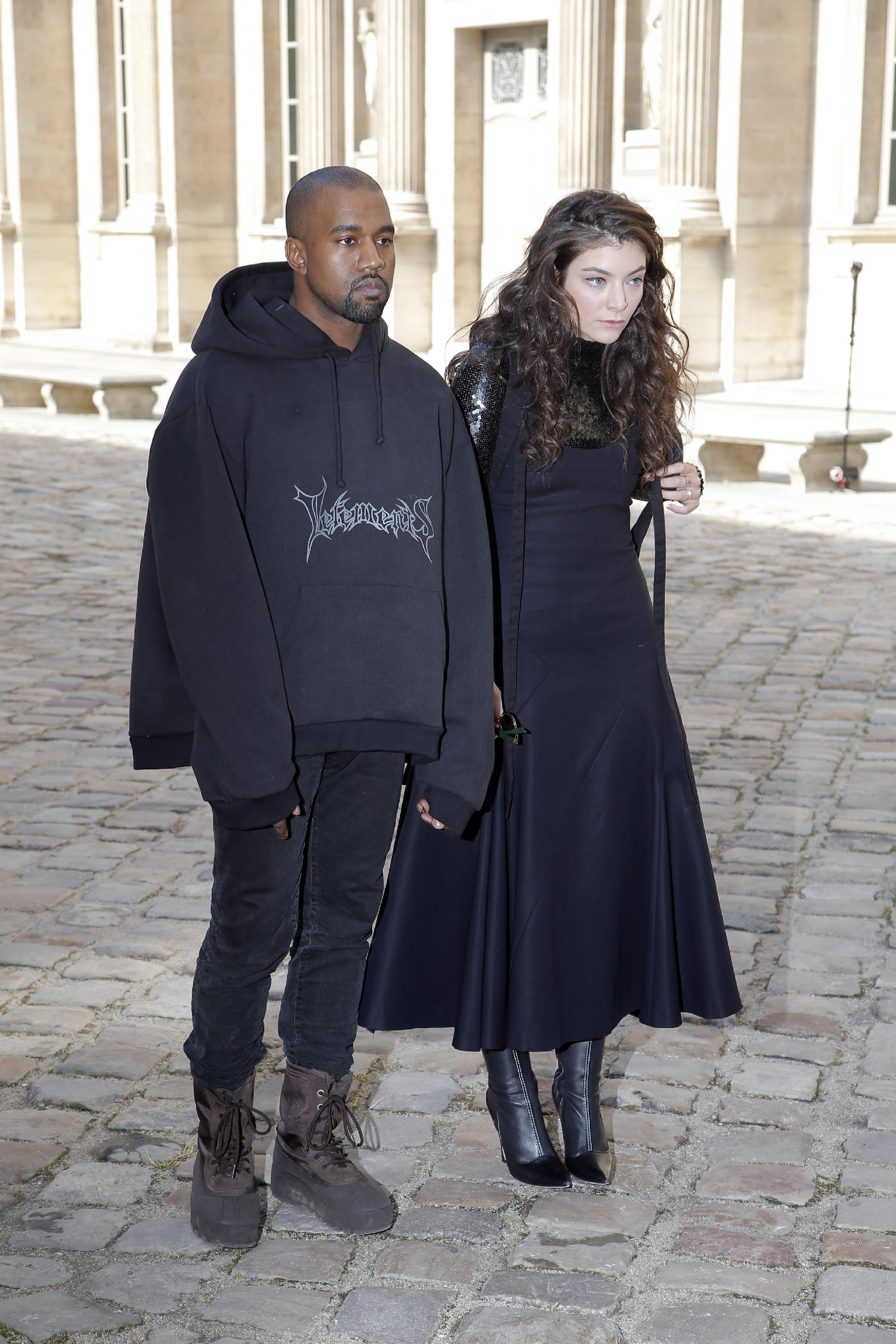 Kanye West and Lorde make unlikely musical duo at Dior