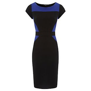 Colour Block Ponte Dress George at Asda: What To Wear: Office: Shift Dresses