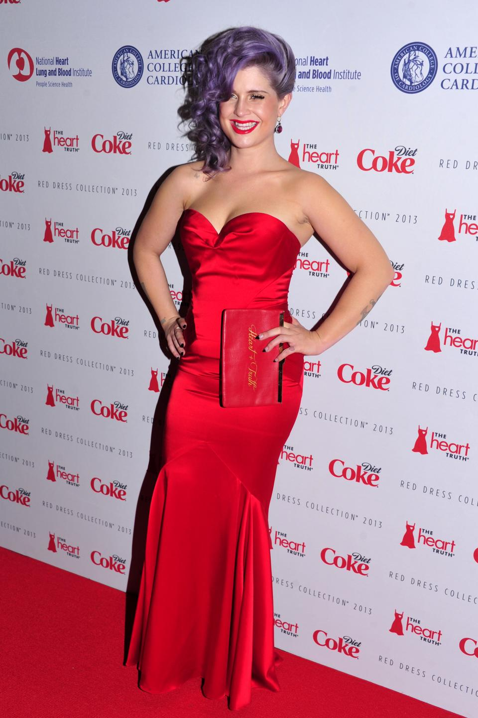 Kelly Osbourne attends the Red Dress Collection 2013 Fashion Show, on Wednesday, Feb. 6, 2013 in New York. (Photo by Charles Sykes/Invision/AP)