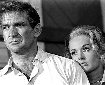 Rod Taylor and Tippi Hedren in Universal's The Birds