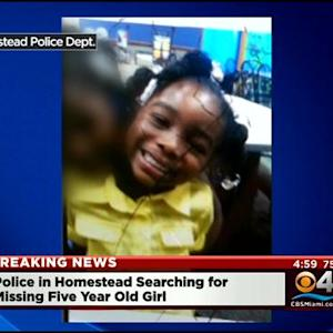 Homestead Police Search For Missing 5-Year-Old Girl