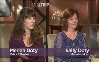Meriah Doty and mother Sally Doty at 'The Guilt Trip' interview with Barbra Streisand and Seth Rogen