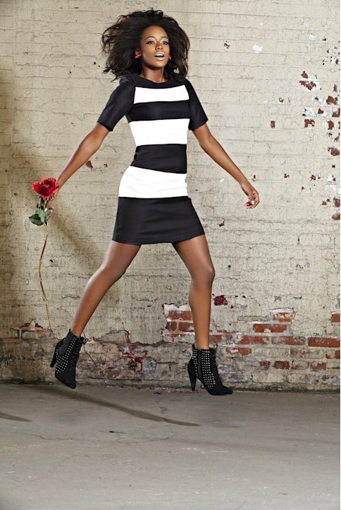 "Annaliese in a photo shoot on ""America's Next Top Model."""