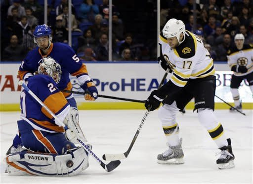 Bruins beat Islanders for 16th time in 20 meetings