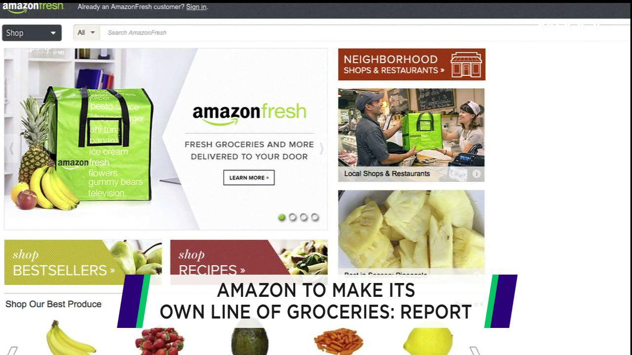 Amazon prepping own line of food items: report