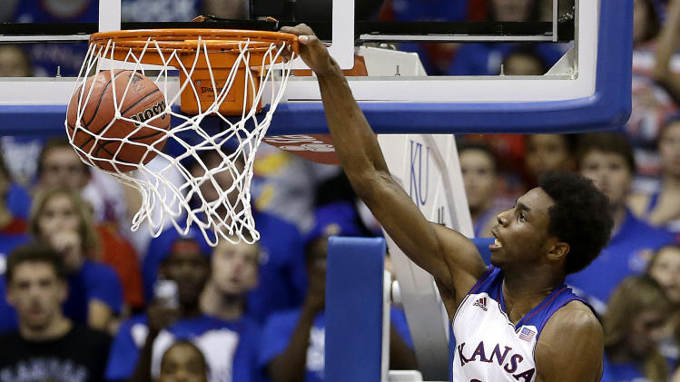 Wiggins leads No. 5 Jayhawks to 80-63 win over ULM