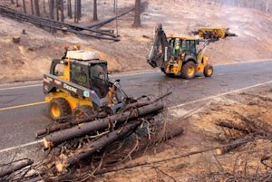 In this photo provided by the U.S. Forest Service,…