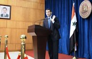 Syrian foreign ministry spokesman Jihad al-Makdissi addresses journalists in Damascus. The UN Security Council held an emergency meeting Sunday on the situation in Syria, hearing that the toll from a massacre in the town of Houla had risen to 108 dead and 300 injured