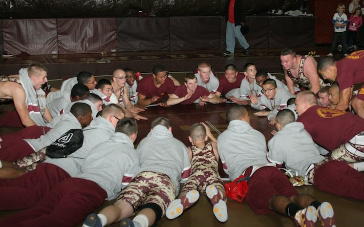 The Fishburne Caissons wrestling squad packs plenty of ammunition — Fishburne Military School