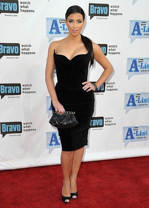 Kim Kardashian arrives at Bravo's 2nd Annual A-List Awards at The Orpheum Theatre on April 5, 2009 in Los Angeles, California.