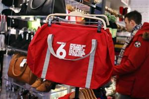 A Principle 6 bag is seen inside an American Apparel store in New York,