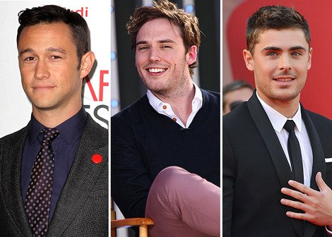 Joseph Gordon-Levitt, Sam Claflin and Zac Efron