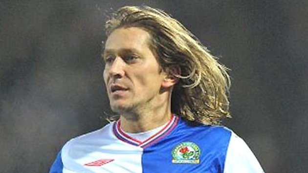 Michel Salgado in his playing days at Blackburn Rovers