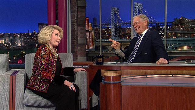 David Letterman - Joan Rivers Recaps the Oscars