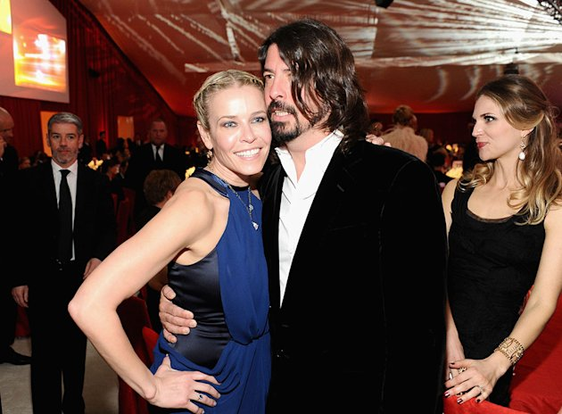 Chopard At 21st Annual Elton John AIDS Foundation Academy Awards Viewing Party: Chelsea Handler and Dave Grohl