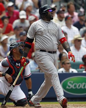 Ortiz, Red Sox end 10-game skid, rally past Braves