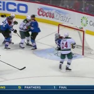 Matt Cooke slips one past Varlamov