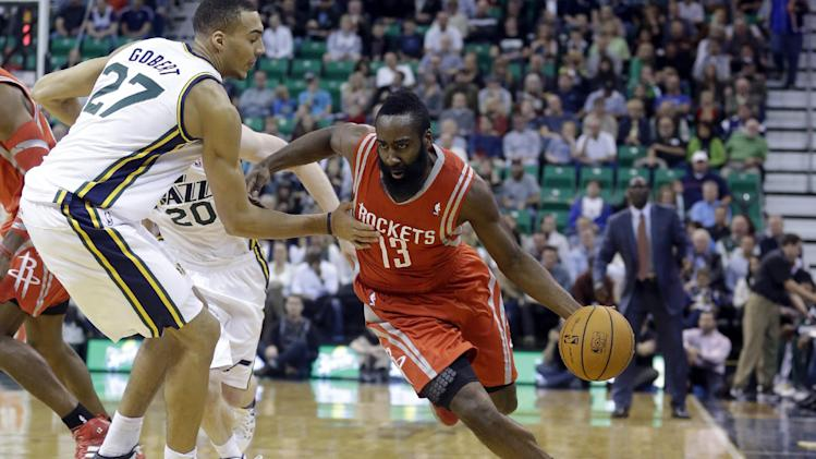 Parsons, Harden lead Rockets over Jazz, 104-93