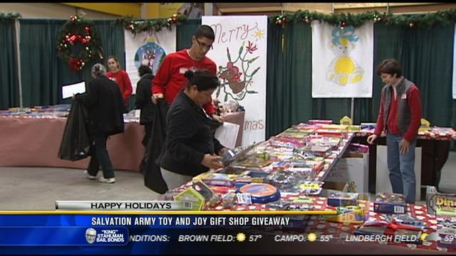 Salvation Army toy and joy gift shop giveaway