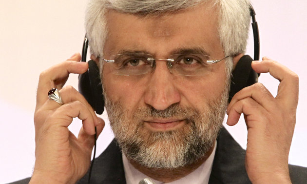 Iran's Supreme National Security Council Secretary and chief nuclear negotiator Saeed Jalili listens to a question during a final news conference in Almaty, Kazakhstan, Wednesday, Feb. 27, 2013. Negot