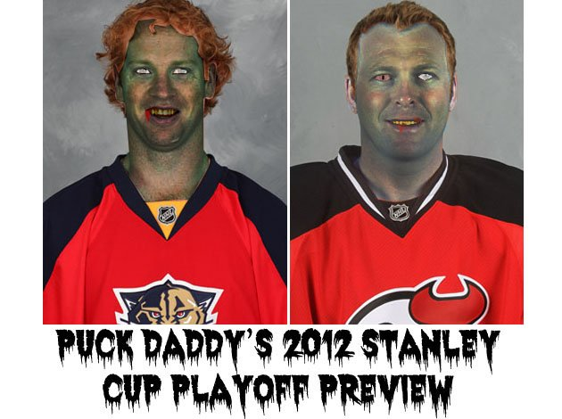 Florida panthers vs new jersey devils puck daddy's nhl 2012