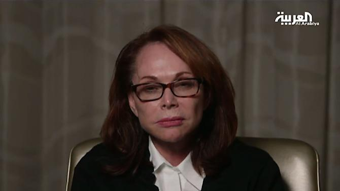An image taken from al-Arabiya satellite television shows Shirley Sotloff, the mother of US hostage Steven Sotloff, on August 27, 2014