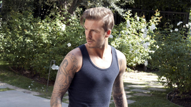Beckham back in skimpy bodywear ads for H&M