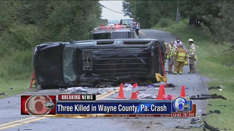3 young people killed, 3 hurt in northeastern Pa. crash