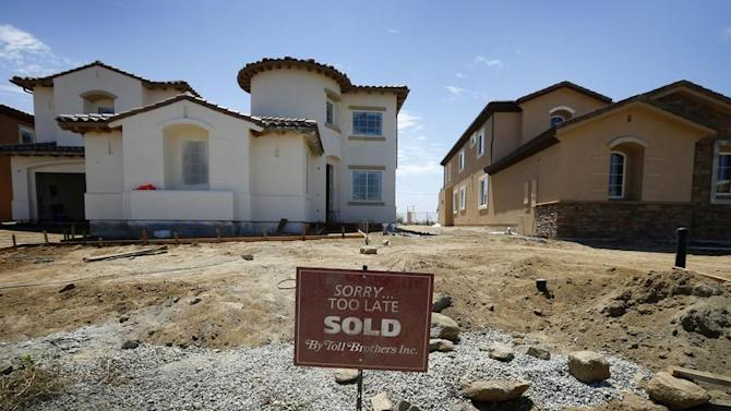 Toll Brothers luxury homes are shown sold before their completion in Oceanside