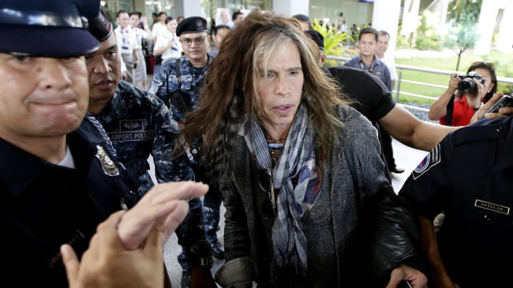 Aerosmith in Manila for first Southeast Asia show