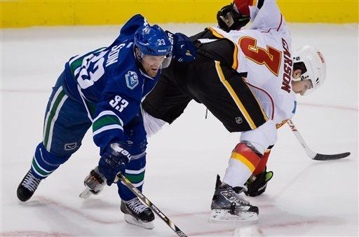 Canucks top line has 8 points in win over Flames