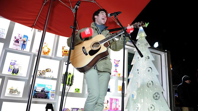 Glee's Darren Criss Performs Holiday Concert At The eBay Toy Box Pop-up