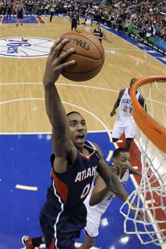 Young's double-double leads 76ers past Hawks 99-80