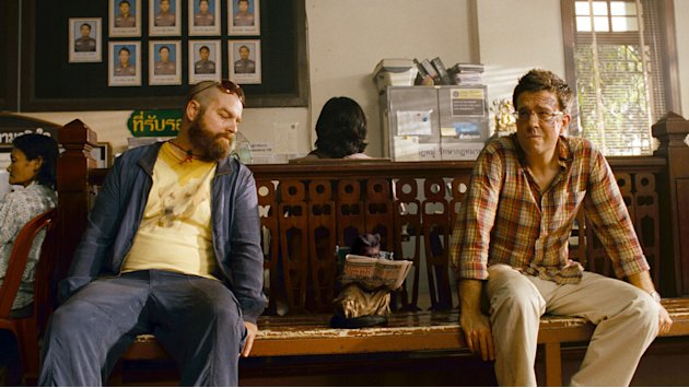 Zach Galifianakis Ed Helms The Hangover Part II Production Stills Warner Bros. 2011