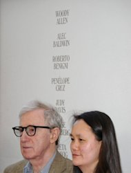 Director and producer Woody Allen and Soon-Yi Previn attend the 2012 Los Angeles Film Festival premiere of 'To Rome With Love' at Regal Cinemas L.A. LIVE Stadium 14 on June 14 in Los Angeles, California. Allen says he can't stand watching any of his own films -- but the 76-year-old US filmmaker insists he has no plans to retire