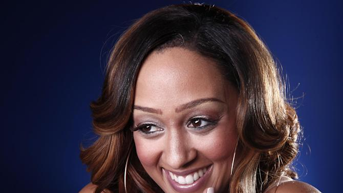 FILE - In this Jan. 9, 2012 file photo, actress Tia Mowry from the BET show 'The Game' poses for a portrait in New York. Mowry's representatives on Wednesday, May 16, 2012 confirmed that she won't appear in the show's sixth season. (AP Photo/Carlo Allegri, File)