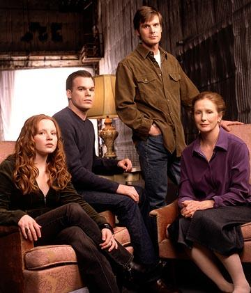 "Lauren Ambrose, <a href=""/baselineperson/4426701"">Michael C. Hall</a>, Peter Krause and Frances Conroy HBO's ""Six Feet Under"" Six Feet Under"