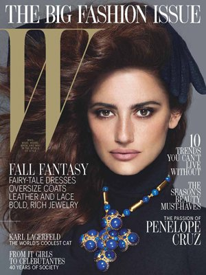 300 WCover Penelopecruz jpg 205921 The cover girl for the new W magazine tells the glossy that sex scenes are ...