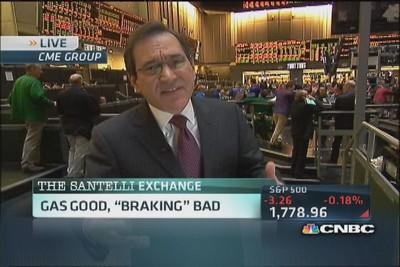 Santelli Exchange: Gas good, 'braking' bad