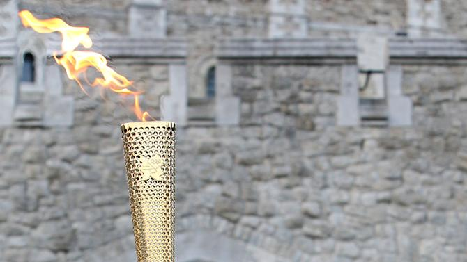 The Olympic Torch Arrives In London