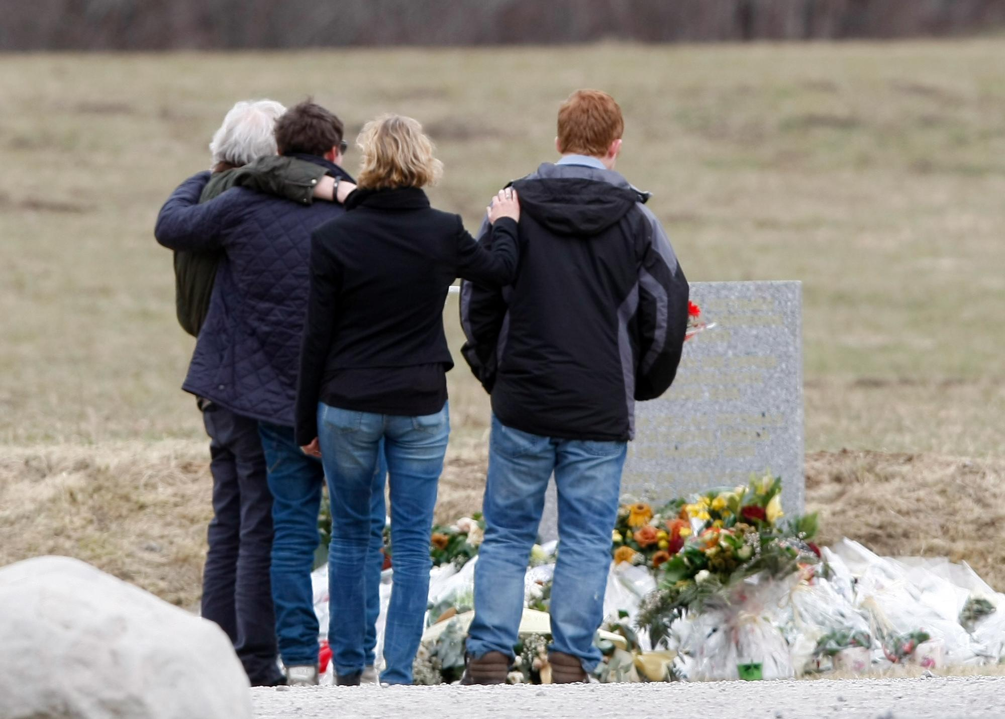 French mayor say co-pilot's father distraught with grief