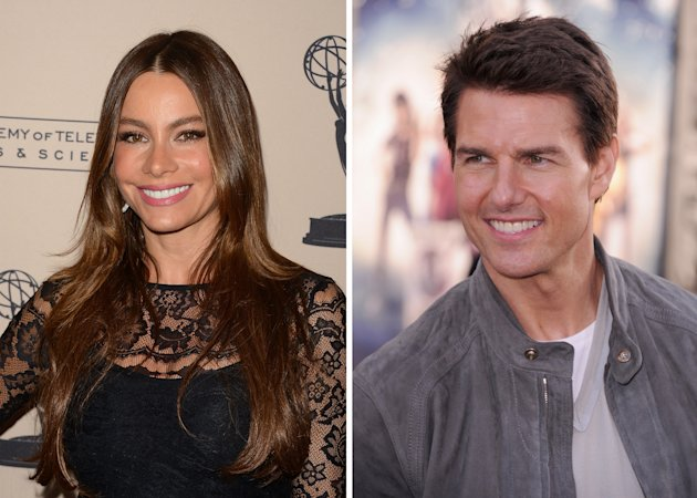 Sofia Vergara and Tom Cruise