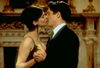 Jeanne Tripplehorn and Hugh Grant in Mickey Blue Eyes