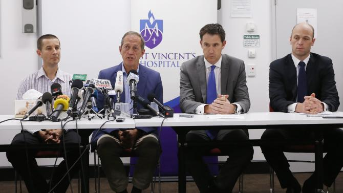News conference following the death of Australian cricketer Phillip Hughes, at St Vincent's Hospital in Sydney