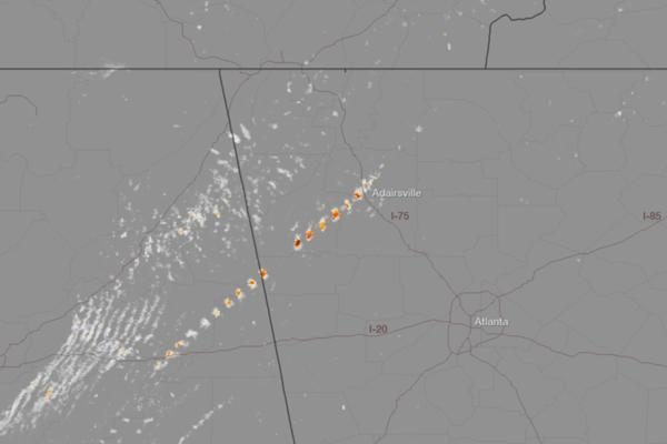 Georgia Tornado Signature Revealed in Radar