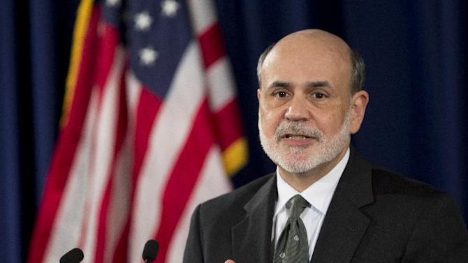 Federal Reserve Chairman Ben Bernanke speaks during a news conference in Washington, Thursday, Sept. 13, 2012, following the Federal Open Market Committee meeting to present the FOMC's current economic projections and to provide additional context for the FOMC's policy decision.  (AP Photo/Manuel Balce Ceneta)