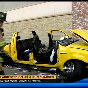 Driver arrested on hit-and-run charges