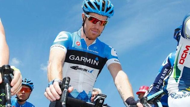 Garmin Sharp&#39;s Tyler Farrar in 2012 (Imago)